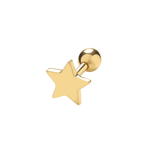 9CT GOLD STAR CARTILAGE STUD