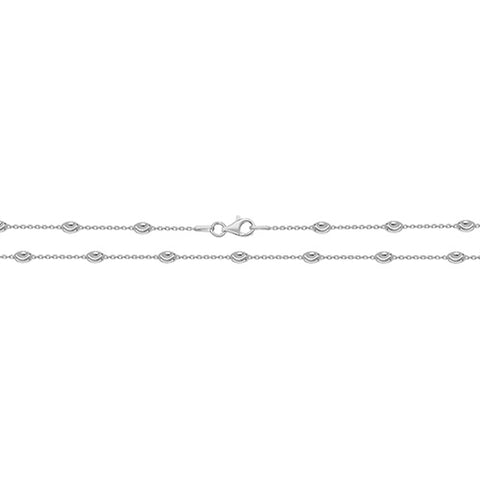 SILVER RAINDROP CABLE CHAIN