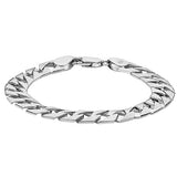 SILVER BABY/TODDLER HEXAGONAL LINK CURB BRACELET