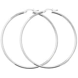 SILVER 2MM WIDE HOOPS