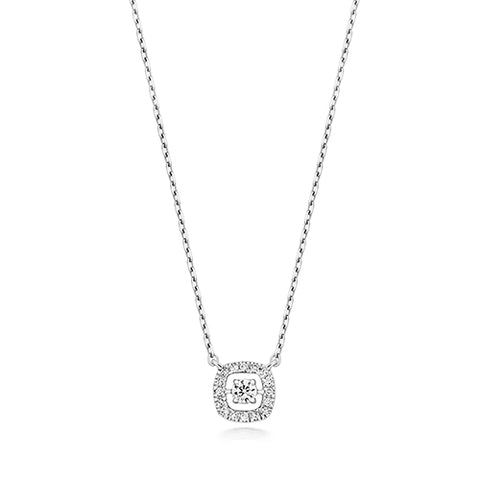 9CT WHITE GOLD DAINTY DIAMOND NECKLACE