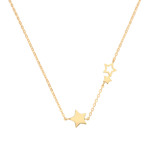 9CT GOLD TRAIL OF STARS NECKLACE