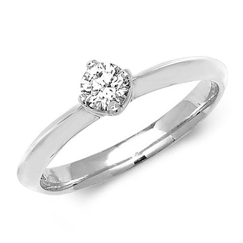 18CT WHITE GOLD 4 CLAW .25CT DIAMOND SOLITAIRE