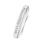 PLATINUM CHANNEL SET DIAMOND 1/3 ETERNITY RING