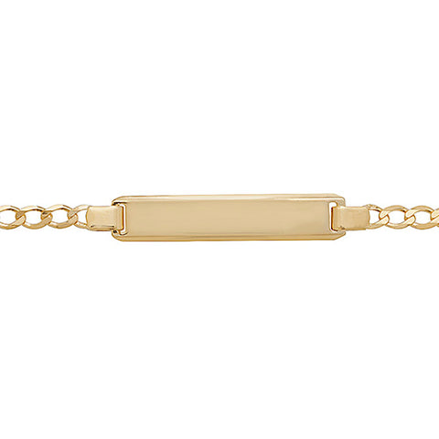 9CT GOLD OPEN CURB BABY IDENTITY BRACELET