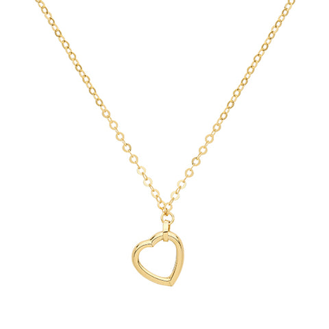 9CT GOLD ASYMMETRIC HEART NECKLACE