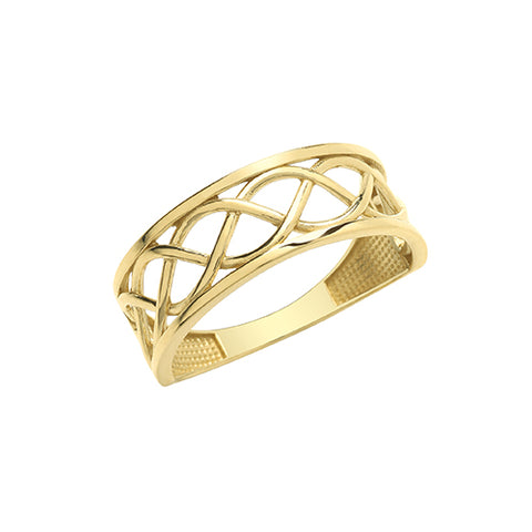 9CT GOLD CELTIC KNOTWORK RING