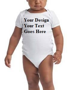 Custom Print Baby Short Sleeve 100% Cotton Bodysuits
