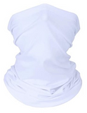 Custom White Face Cover Scarf UV Protection Neck Gaiter