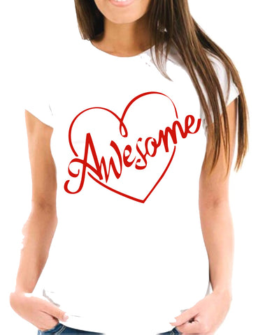 AWESOME HEART Short-Sleeve Unisex T-Shirt