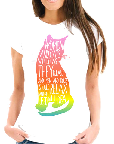 CAT ARCOIRIS Short-Sleeve Unisex T-Shirt
