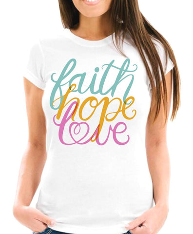 Rainbow Faith Hope Love Short-Sleeve T-Shirt
