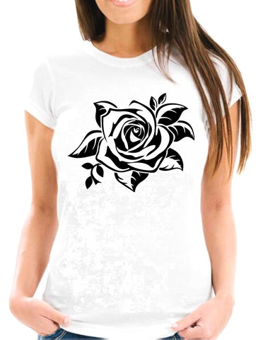 FLOR - 10 - Black Rose Two Short-Sleeve T-Shirt