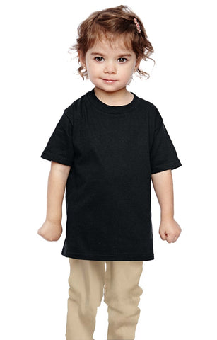 Custom Toddler Black 100% Cotton T-Shirt