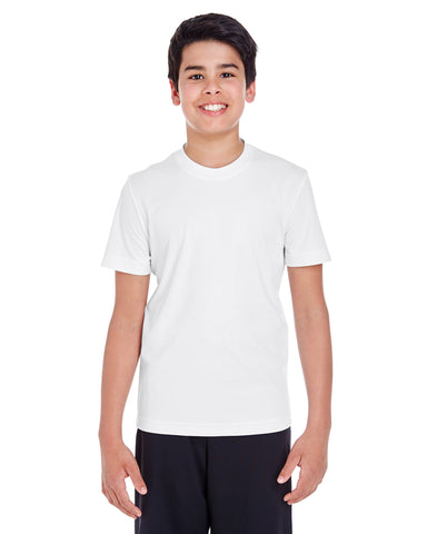 Custom Youth White 100% Polyester T-Shirt
