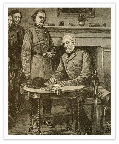 obert E. Lee Signing the Terms of Surrender