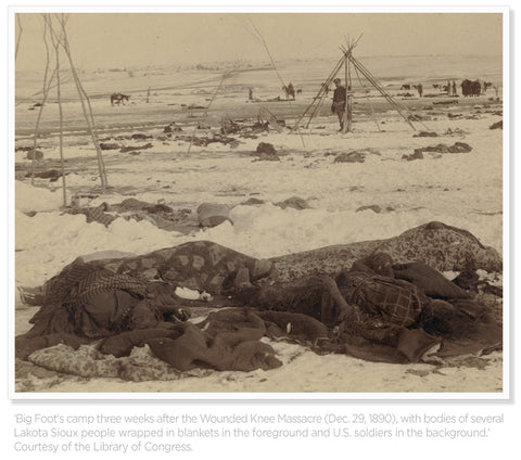 Bodies at wounded knee