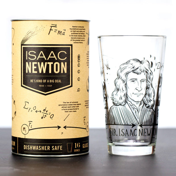 The Isaac Newton Pint Glass