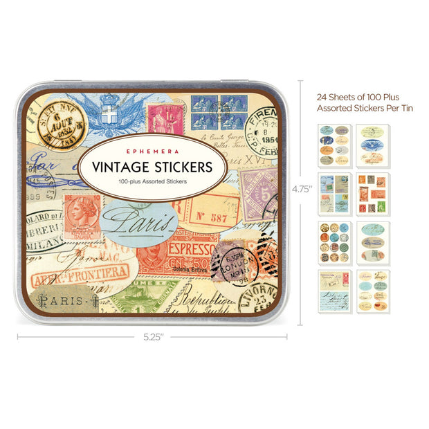 Retro Style Travel Sticker Set