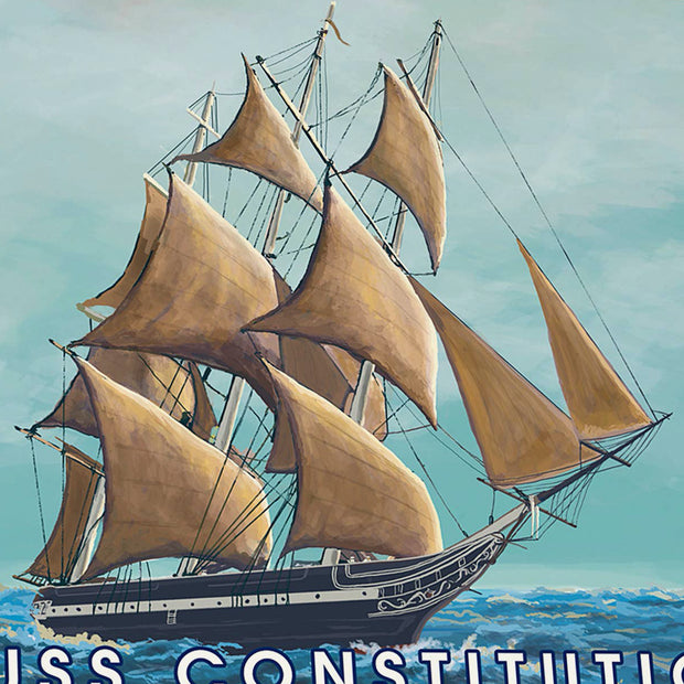 USS Constitution - Old Ironside Coaster Set