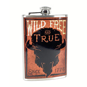 The Wild, Free & True Flask