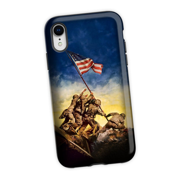 The Iwo Jima Flag iPhone XR Tough Case