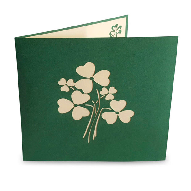The Irish Shamrock Pop-Up Card