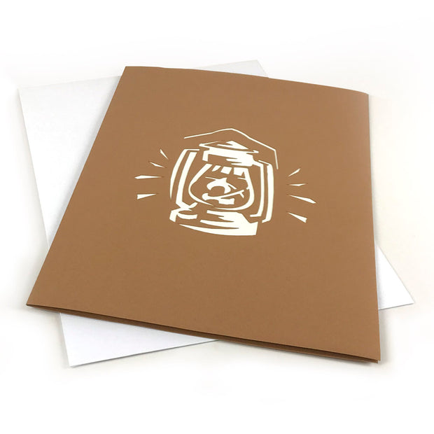 The Western Lantern Pop-Up Card