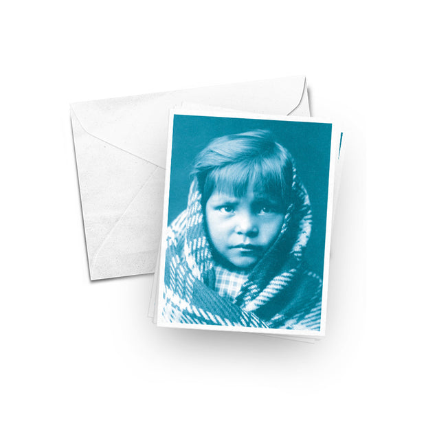 Edward Curtis Portrait Retro Card Set