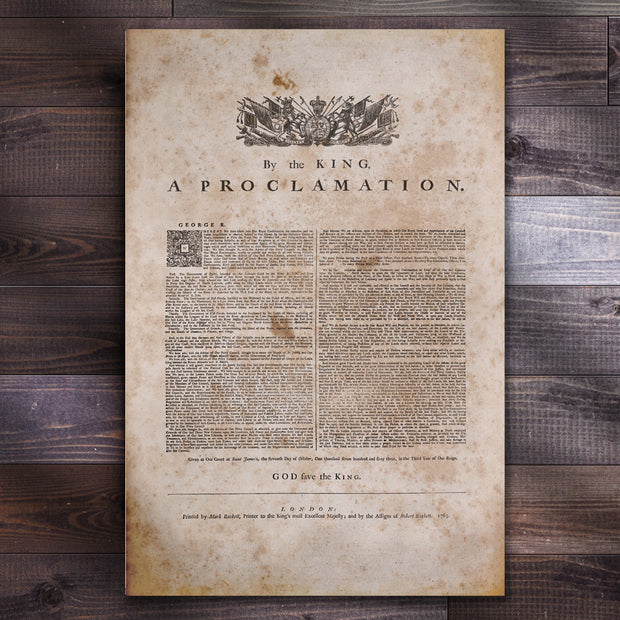 the royal proclamation