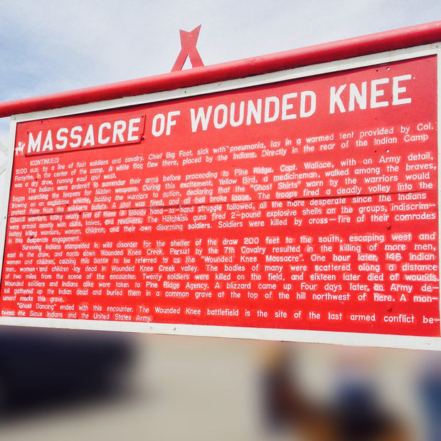 The Wounded Knee Massacre at Pine Ridge Indian Reservation