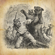 Jim Bridger remained with the dying Hugh Glass after the grizzly bear attack in 1823
