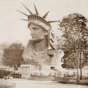 Statue Of Liberty head on exhibit at the Paris World's Fair of 1878