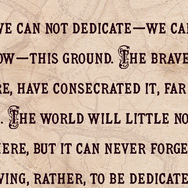 Lincoln's Gettysburg Address Speech