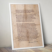The Gettysburg Address Classic Poster