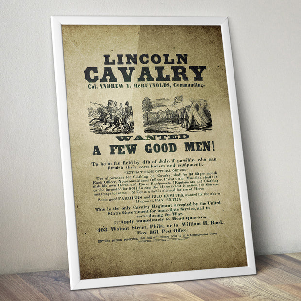 Lincoln Cavalry - Wanted. A few good men