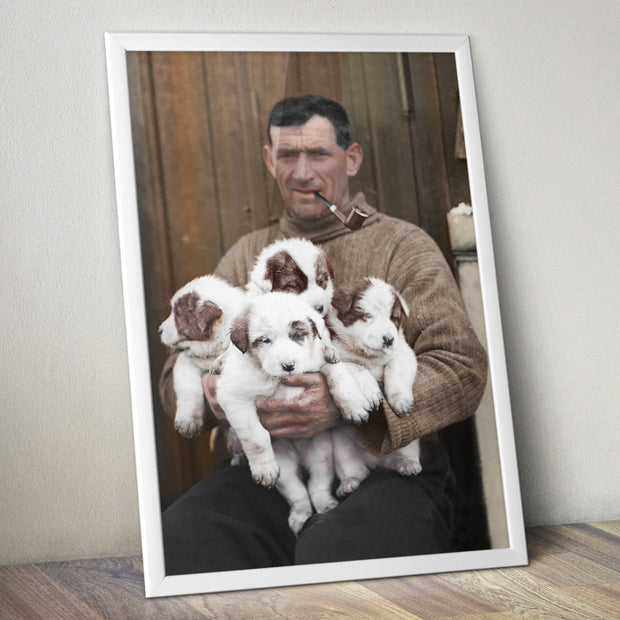 "Tom Crean and ""his"" pups"