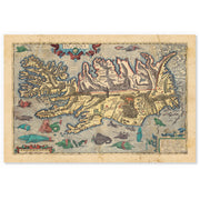 Viking Islandia Map 1603
