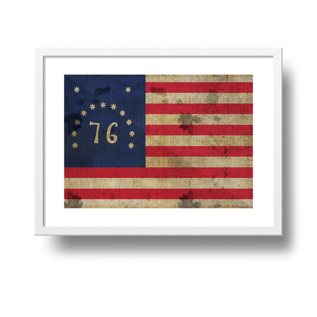 The Bennington 76'  Flag Classic Poster