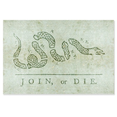 Benjamin Franklin's Join, or Die Poster