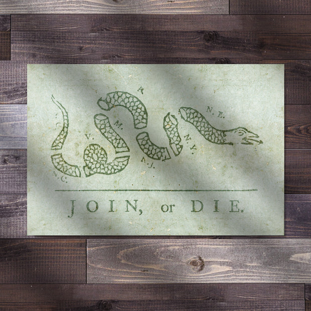 Benjamin Franklin's Join, or Die Classic Poster