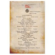 The Luncheon Menu Of The Titanic