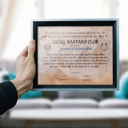 "FREE - Lucky Bastard Club ""YOUR NAME"" Certificate"