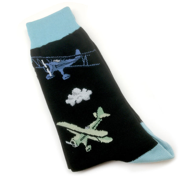 Vintage Bi-Plane Retro Socks (Mens)