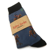 Cowboys Of The Old West Retro Socks (Mens)