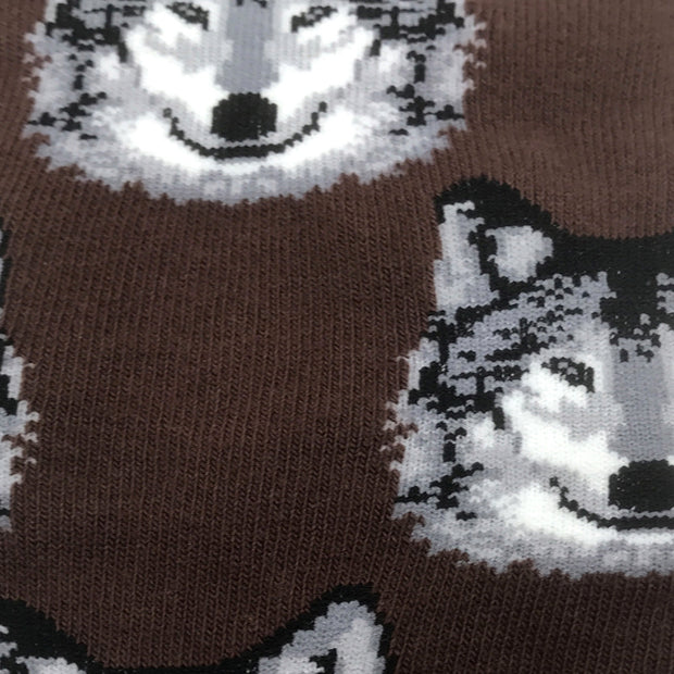 Spirit Of The Wolf Retro Socks (Mens)