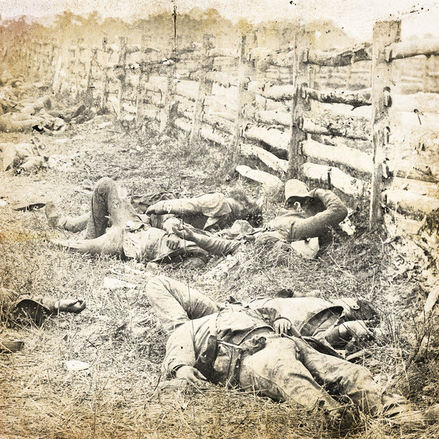 Confederate soldiers from Starke's Louisiana Brigade - Hagerstown Turnpike