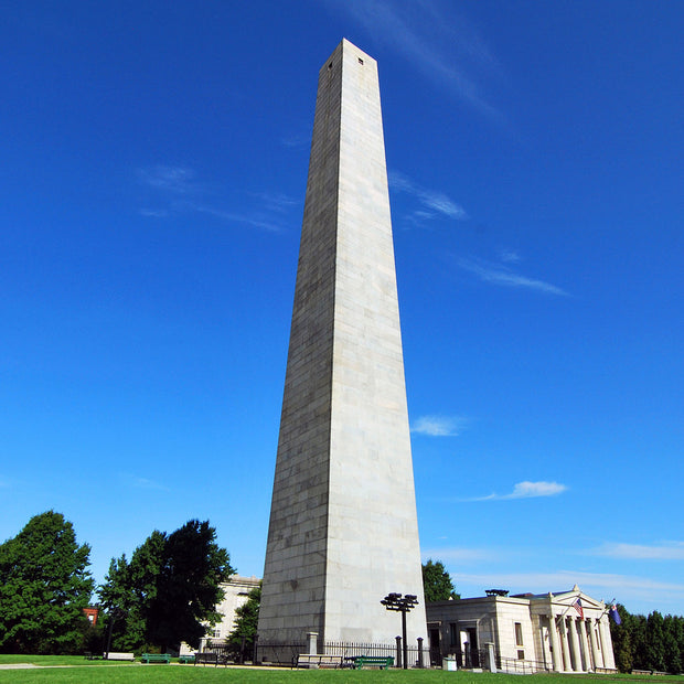 The Bunker Hill Monument in Charlestown, Massachusetts