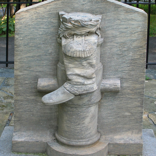 The infamous Boot Monument at Saratoga, depicting Arnold's injured leg.