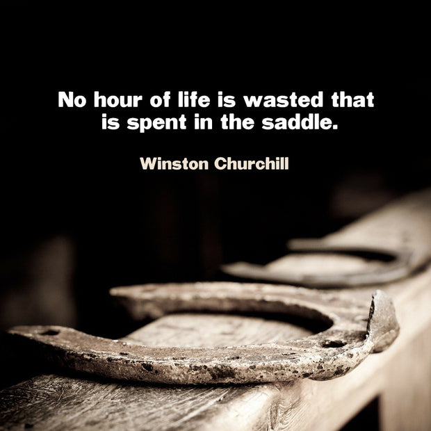No hour of life is wasted that is spent in the saddle.